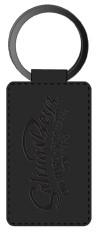 Salinas Boys Schlüsselanhänger Leather Single Sided Rectangular Key Ring Black
