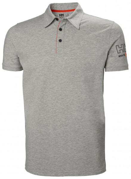 Helly Hansen T-Shirt 79241 Kensington Polo 930 Grey Melange
