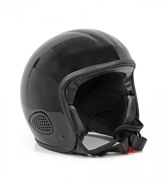 Bores Motorrad Helm Gensler Kult Jethelm, ECE 22.05 Black