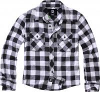Brandit Kinder Hemd Checkshirt Kids White/Black