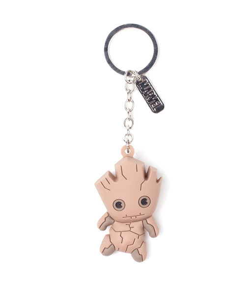 Marvel Kawaii Art Collection Keychain Groot Character 3D Rubber Multicolor