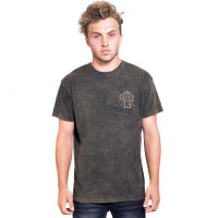 Lucky 13 T-Shirt Dead Skull Tee Washed Brown