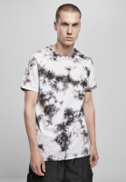 Urban Classics T-Shirt Black Tie Dye Tee White/Black