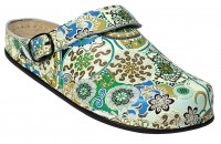 AWC Footwear Berufsschuhe Sandale mit PU Sohle in Oriental Grün-Blau