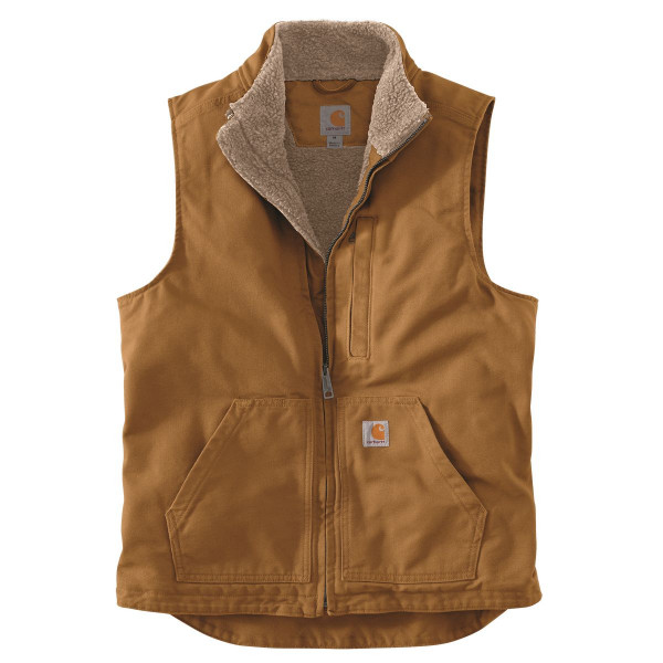 Carhartt Weste Washed Duck Lined Mock Neck Vest Carhartt® Brown