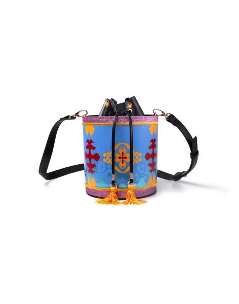 Aladdin Handbags Disney - Aladdin - Magic Carped Glitter Drawstring Bucket Bag Multicolor