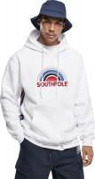 Southpole Sweatshirt Multi Color Logo Hoody White