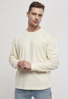 Urban Classics Sweatshirt Organic Cotton Short Curved Oversized LS Whitesand