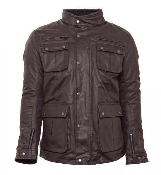 Bores Jacket Adolfo Herren Wachsjacke lang Black