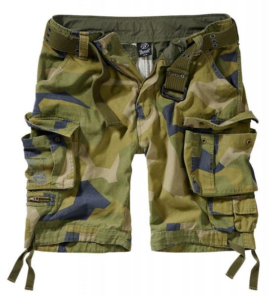 Brandit Shorts Savage Vintage in Swedisch Camo M90