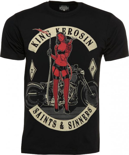 King Kerosin T-Shirt Saint's and Sinners Black