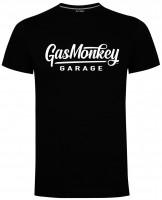 Gas Monkey Garage T-Shirt Large Script Logo Black