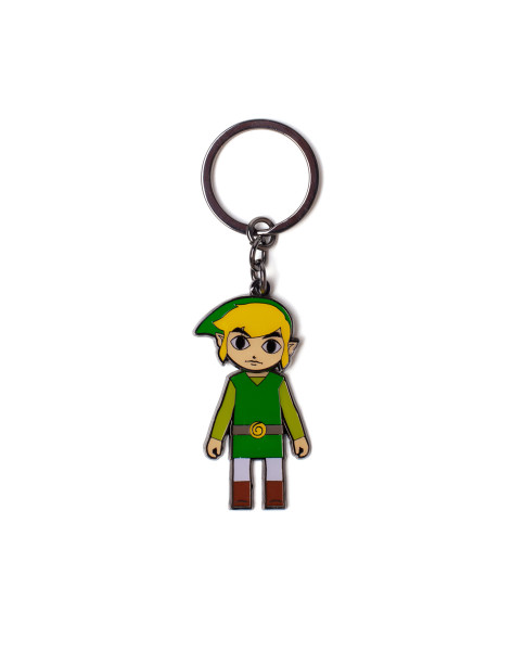 The Legend of Zelda Keychains Zelda - Link With Movable Head Metal Keychain Multicolor