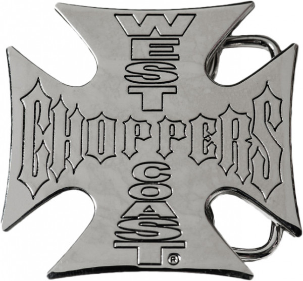 WCC West Coast Choppers Gürtelschnalle Iron Cross