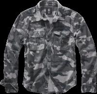 Brandit Hemd Vintage Shirt longsleeve in Grey Camo