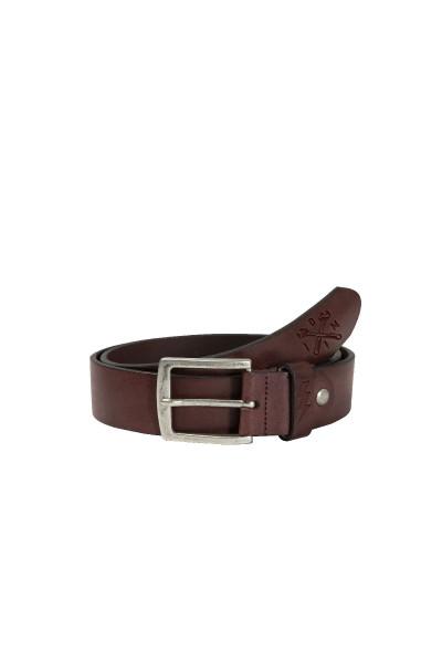 John Doe Gürtel John Doe Leather Belt Logo Brown