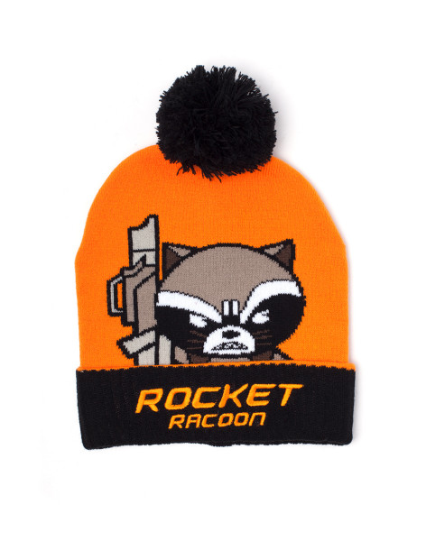 Marvel Beanies Marvel - Racoon Kawaii Art Beanie Orange