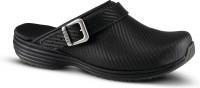 Sanita Damen Offener Clog Wave-Carbon Open Black/Black