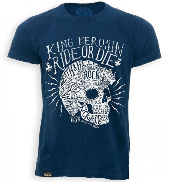 King Kerosin T-Shirt Ride or Die Blue
