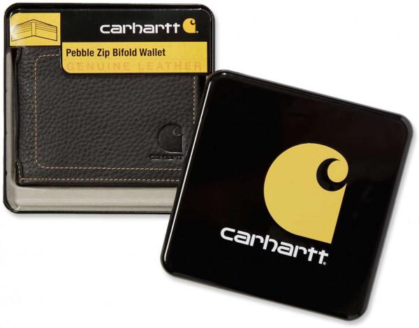 Carhartt Herren Geldbörse Pebble Zip Bifold Wallet Black