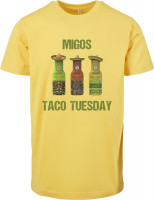 Mister Tee T-Shirt Migos Tuesday Taco Tee Taxi Yellow