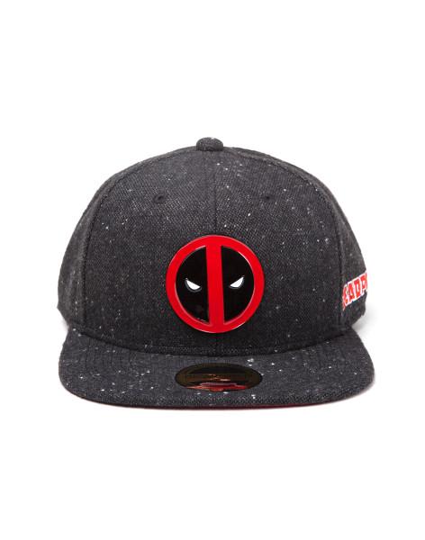Deadpool Classic Style Guide Cap Metal Badge Logo Snapback Black