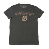 WCC West Coast Choppers T-Shirt Eagle Crest Tee Oil Dye Anthracite