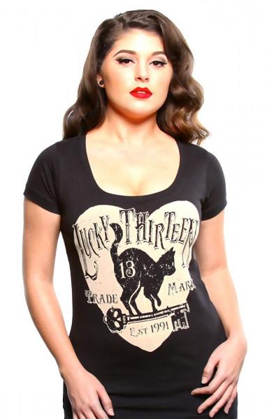 Lucky 13 Female Shirt Prowl Black