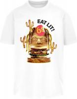 Mister Tee T-Shirt Eat Lit Oversize Tee White