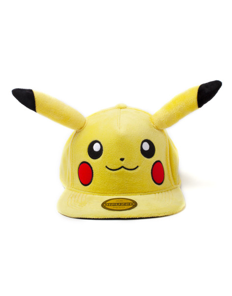 Pokémon Cap Pokémon - Pikachu Plush Snapback Yellow