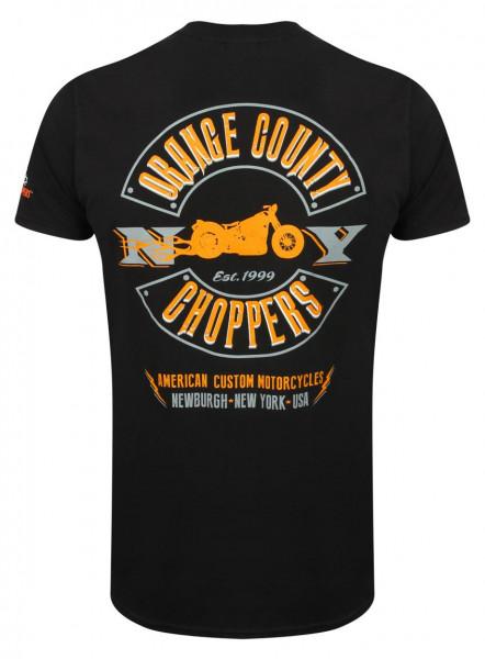 OCC Orange County Choppers T-Shirt Lightning Black