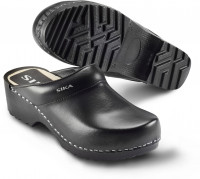 Sika Schuh Traditionell Clog Schwarz