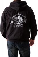 OCC Orange County Choppers Hoodie Moto Black Zip