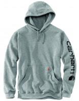 Carhartt Sleeve Logo Hooded Sweatshirt Heather Grey/Black