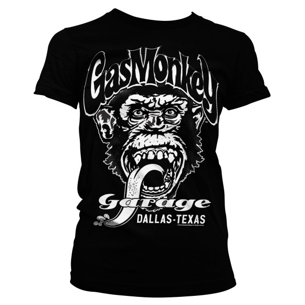 Gas Monkey Garage Female Shirt Dallas, Texas Black
