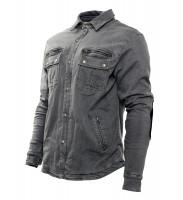 Bores Hemd Driver-Shirt Grey