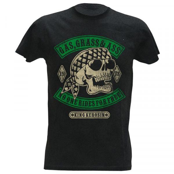 King Kerosin Shirt Gas, Grass & Ass Black