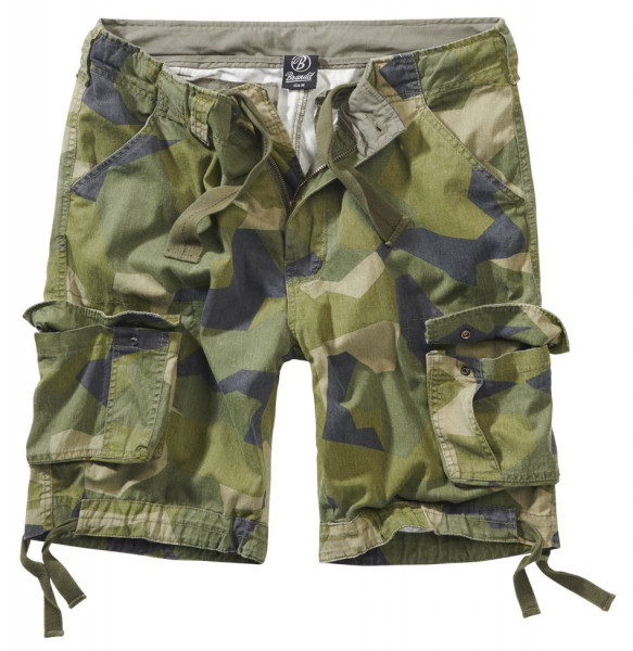 Brandit Urban Legend Shorts in Swedisch Camo M90