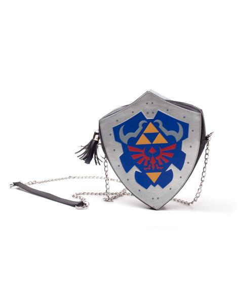 The Legend of Zelda Handbags Zelda - Zelda Digital Printed Shield PU Ladies Shoulder Bag Grey