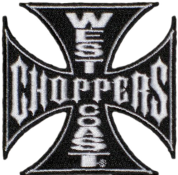 WCC West Coast Choppers Patch Iron Cross Black