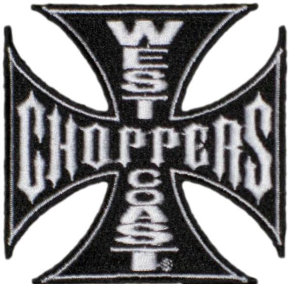 WCC West Coast Choppers Patch Iron Cross Black
