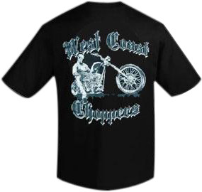 WCC West Coast Choppers T-Shirt Chopper Dawg II Black