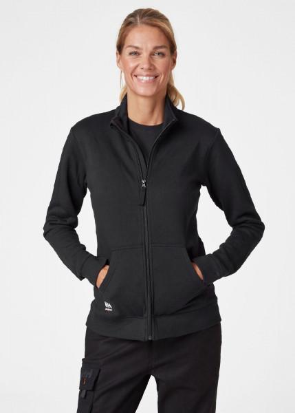 Helly Hansen Female Hoodie / Sweatshirt 79213 W Manchester Zip Sweater 990 Black