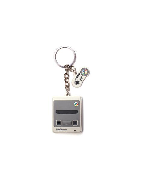 Nintendo Keychains Nintendo - SNES 3D Rubber Keychain Grey