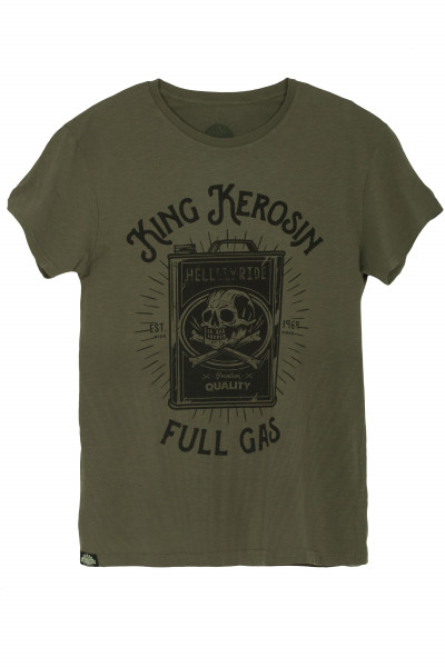 King Kerosin T-Shirt Full Gas Watercolour Olive