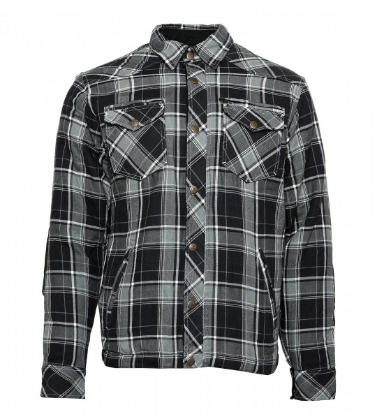 Bores Lumberjack Jacke Hemd in Holzfäller Optik Grey/Black/White