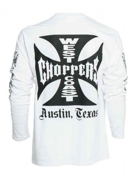 WCC West Coast Choppers Longsleeve Original Cross White