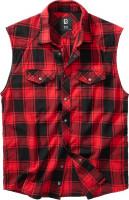 Brandit Men Hemd Checkshirt sleeveless Red/Black