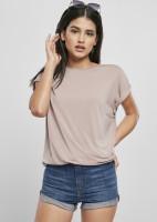 Urban Classics Damen T-Shirt Ladies Modal Extended Shoulder Tee Duskrose