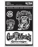 Gas Monkey Garage Sticker GMG A4 Sticker Set B